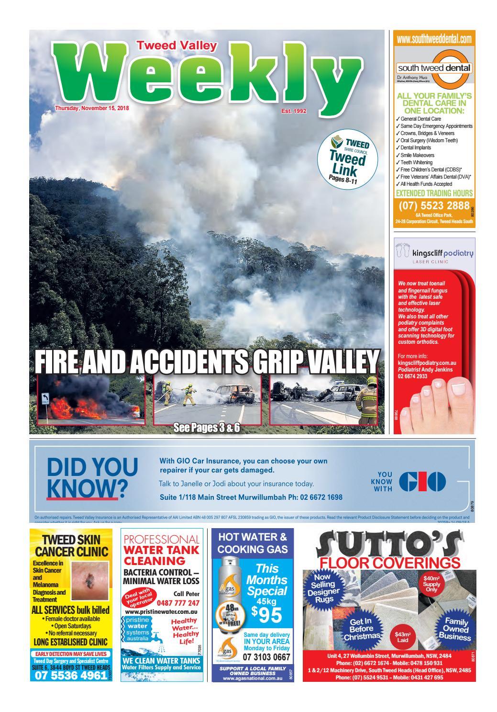 Tweed Valley Weekly, November 15, 2018 by Tweed Valley