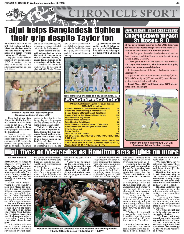 Guyana Chronicle E-paper 11-14-2018