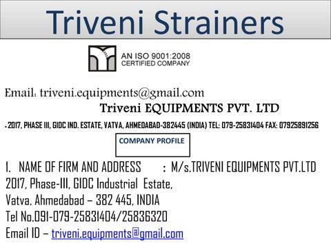 Best Duplex Strainers in Ahmedabad, Gujarat by triveni