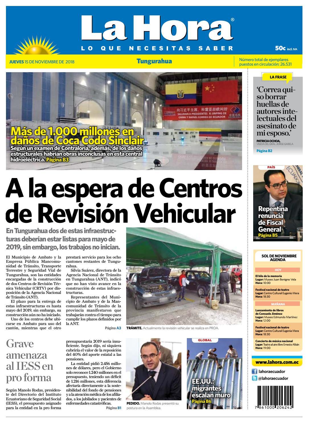 42ed47ca6c70 Tungurahua 15 de noviembre de 2018 by Diario La Hora Ecuador - issuu
