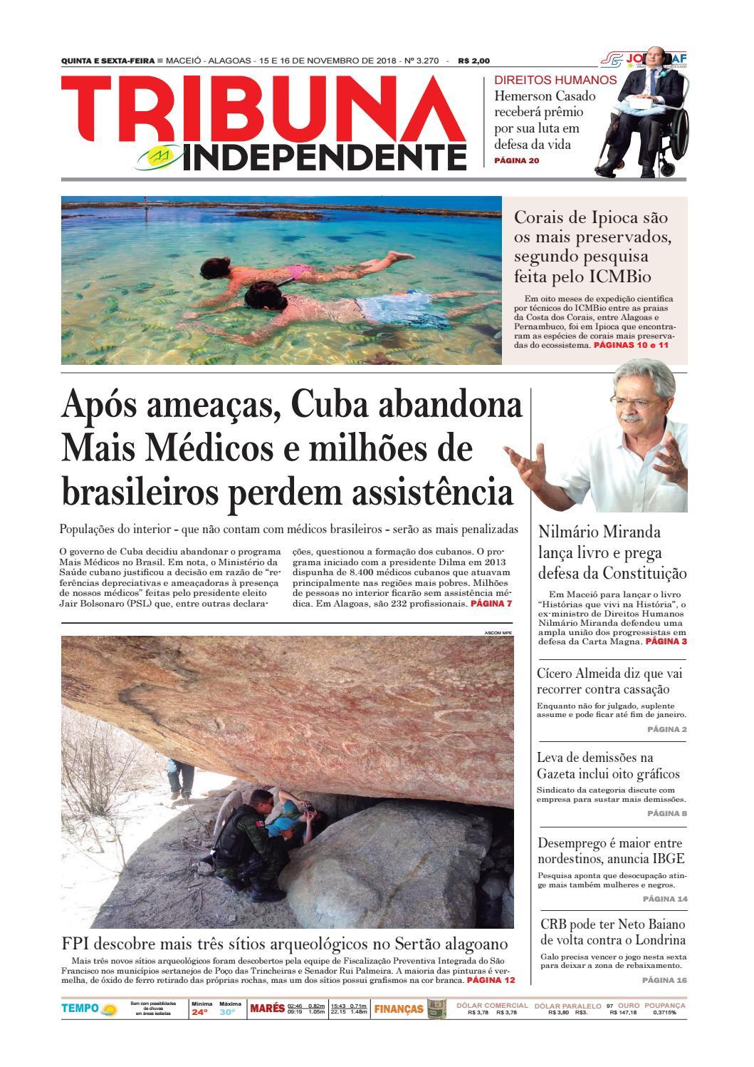 50f48da57d527 Edição número 3270 - 15 e 16 de novembro de 2018 by Tribuna Hoje - issuu