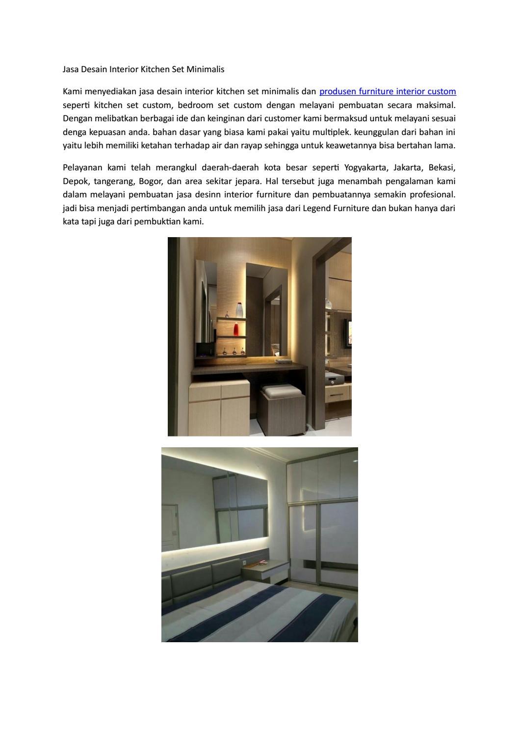 Jasa desain interior kitchen set minimalis by produsenfurniture982 issuu