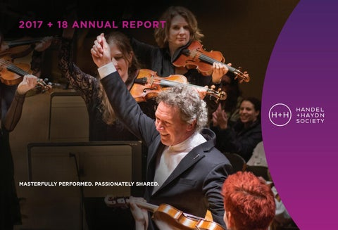 Handel and Haydn Society 2017-18 Annual Report by Mike