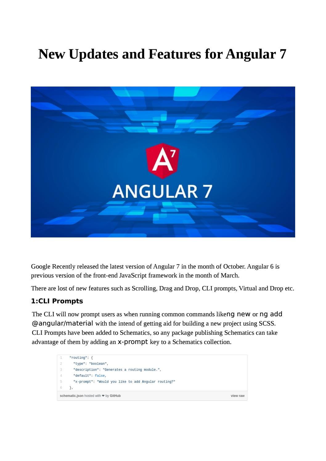 New updates and features for angular 7 by quickbeyond - issuu