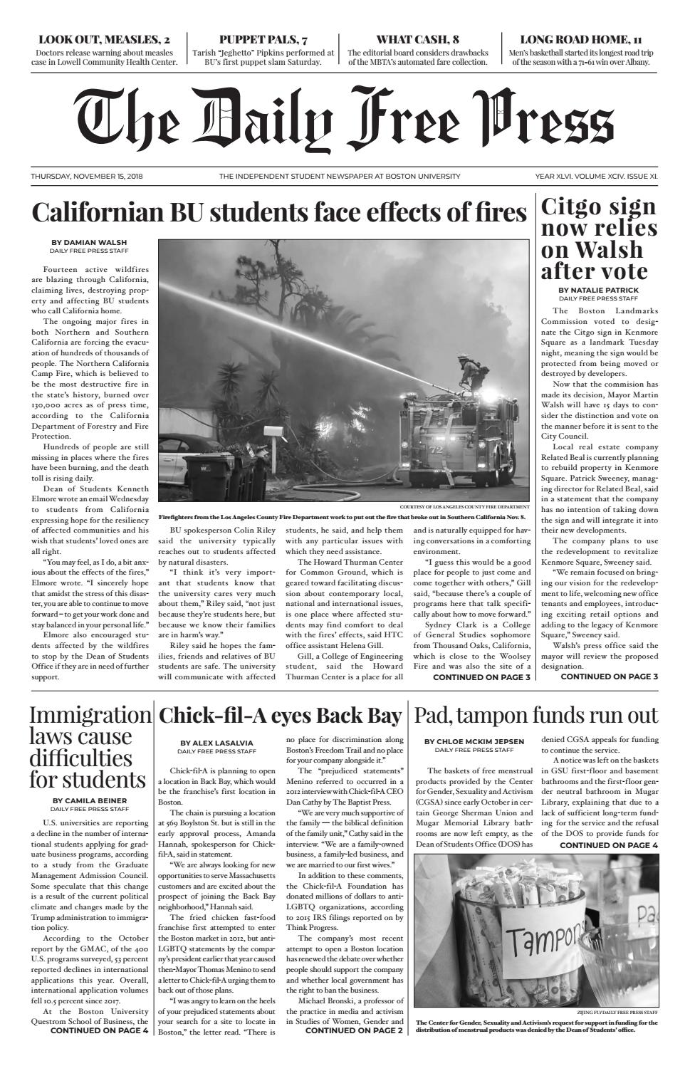 11-15-2018 by The Daily Free Press - issuu