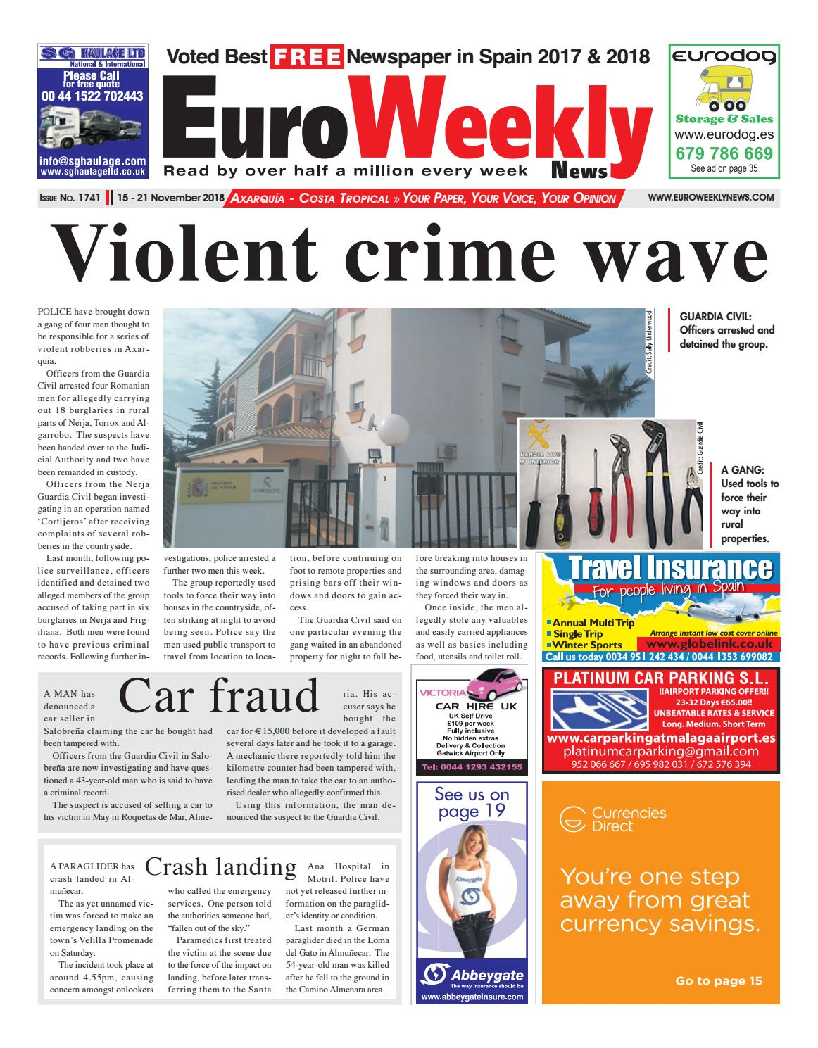 Euro Weekly News Axarquia 15 21 November 2018 Issue 1741 By An Electric Toothbrush Out Of A Vibrator Hacks Mods Circuitry Media Sa Issuu