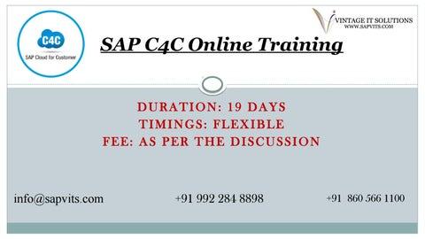SAP Cloud For Customer PPT by shruti allentics - issuu