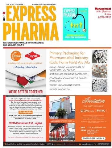 Express Pharma (Vol 14, No  2) November 16-30, 2018 by Indian