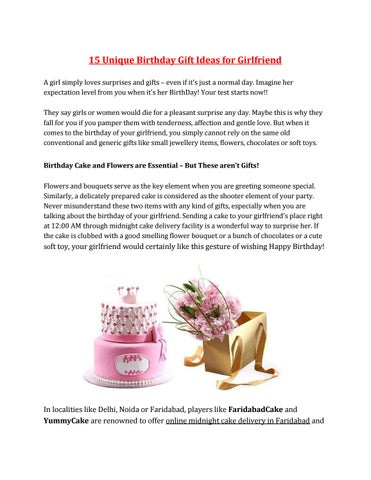 15 Unique Birthday Gift Ideas For Girlfriend A Girl Simply Loves Surprises And Gifts Even If Its Just Normal Day Imagine Her Expectation Level From