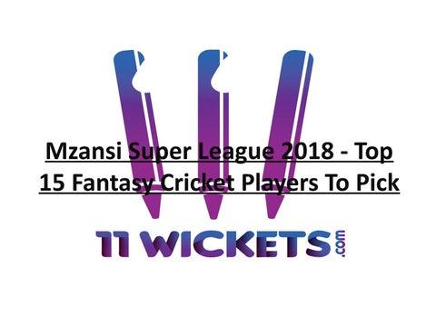 0145751ec60d Mzansi Super League 2018 - Top 15 Fantasy Cricket Players To Pick