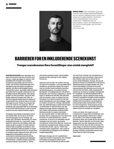 Page 22 of Barrierer for en inkluderende scenekunst