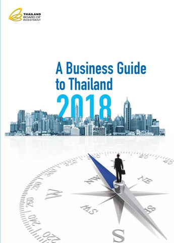 A Business Guide to Thailand 2018 by German-Thai Chamber of