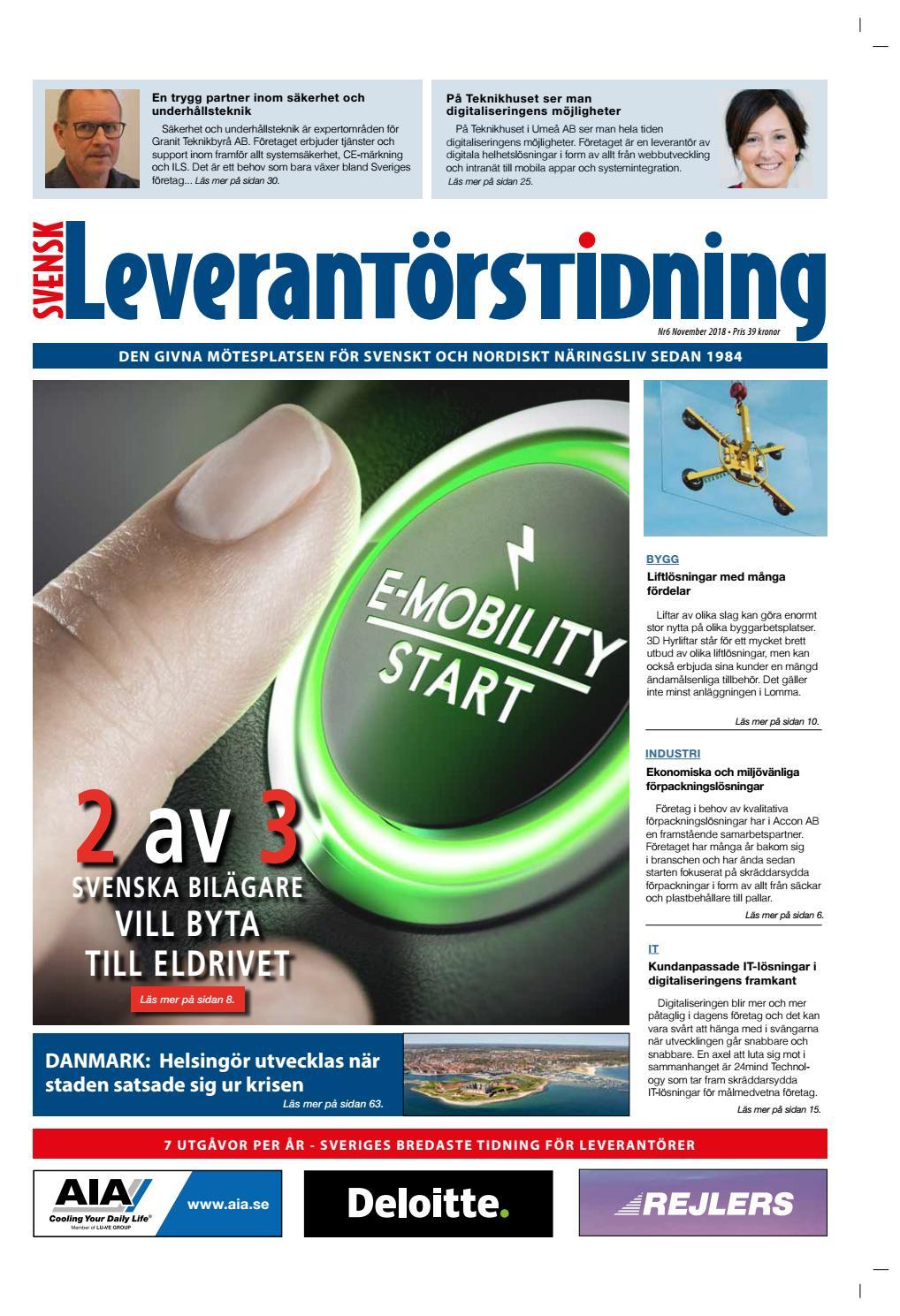 Svensk Leverantörstidning nr-6 2018 by Hexanova Media Group AB - issuu 7fca2f2c23a71