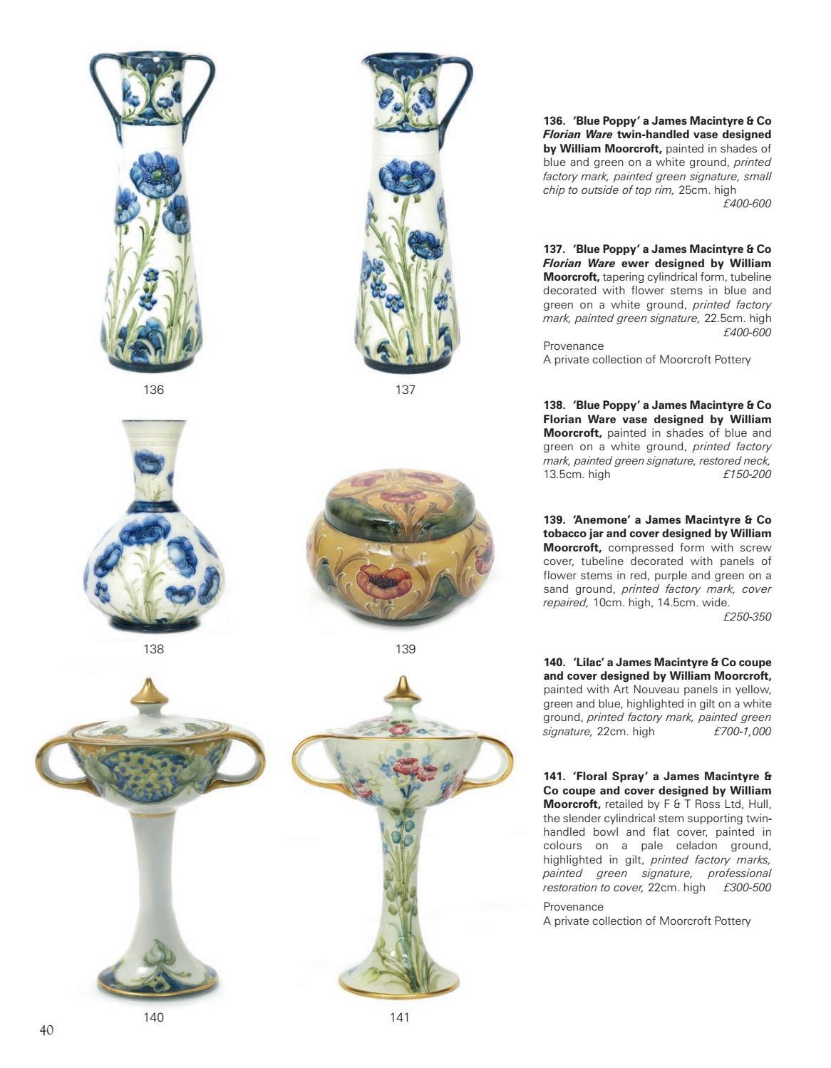Moorcroft pottery marks