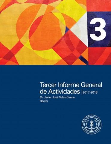 Informe General De Actividades 2017 2018 By Instituto Tecnologico De