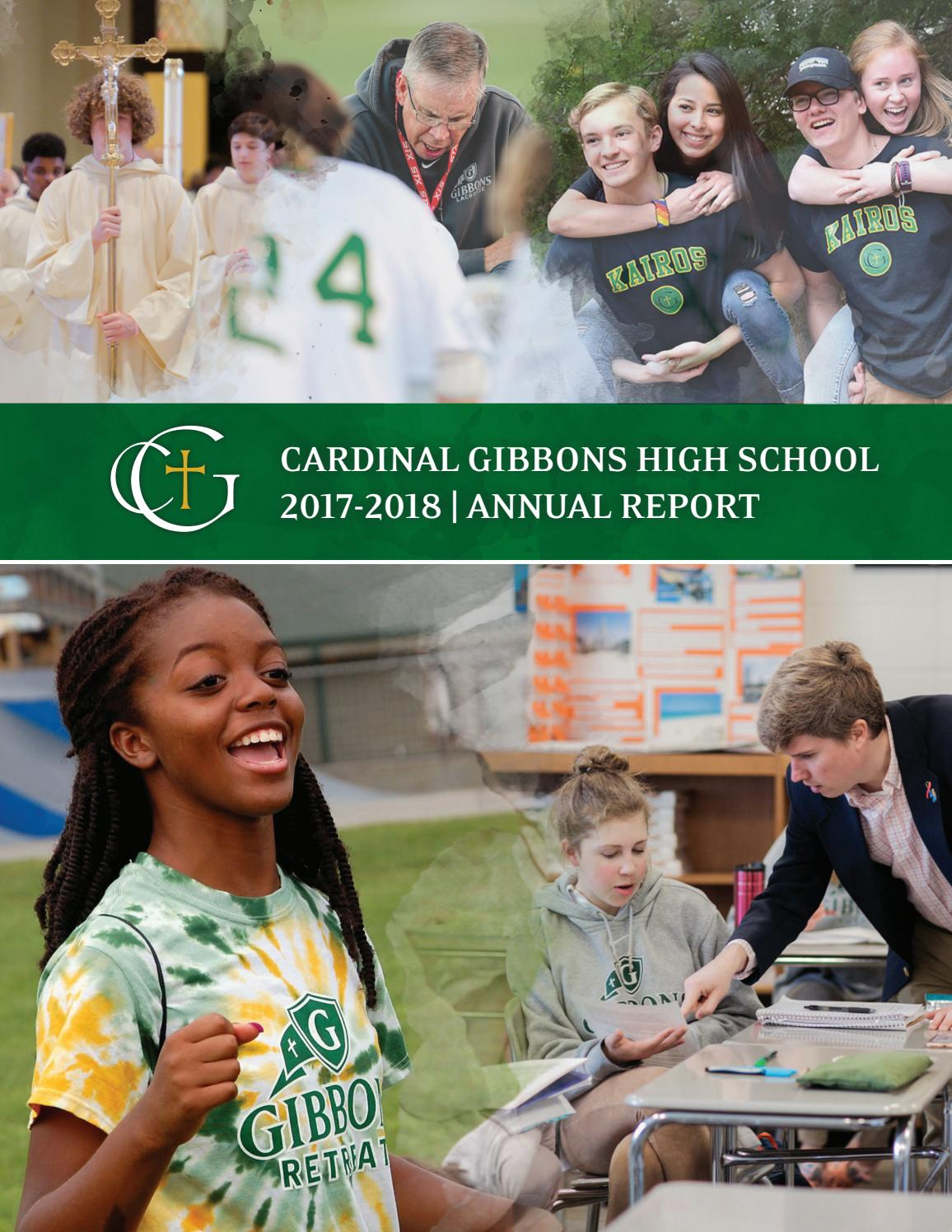 3bfdae2ee9 Cardinal Gibbons High School 2017-2018 Annual Report by Cardinal ...