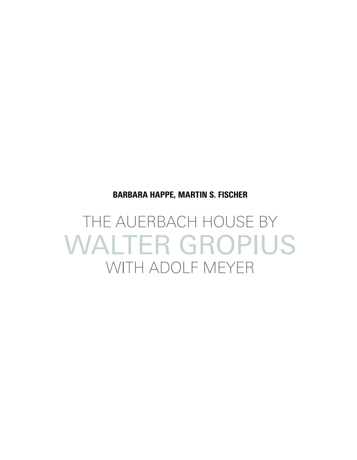 Picture of: The Auerbach House By Walter Gropius With Adolf Meyer By Detail Issuu