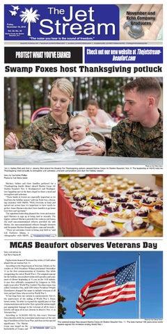 098b9e7e3 The Jet Stream | November 16, 2018. Swamp Foxes host Thanksgiving potluck; MCAS  Beaufort observes Veterans Day ...