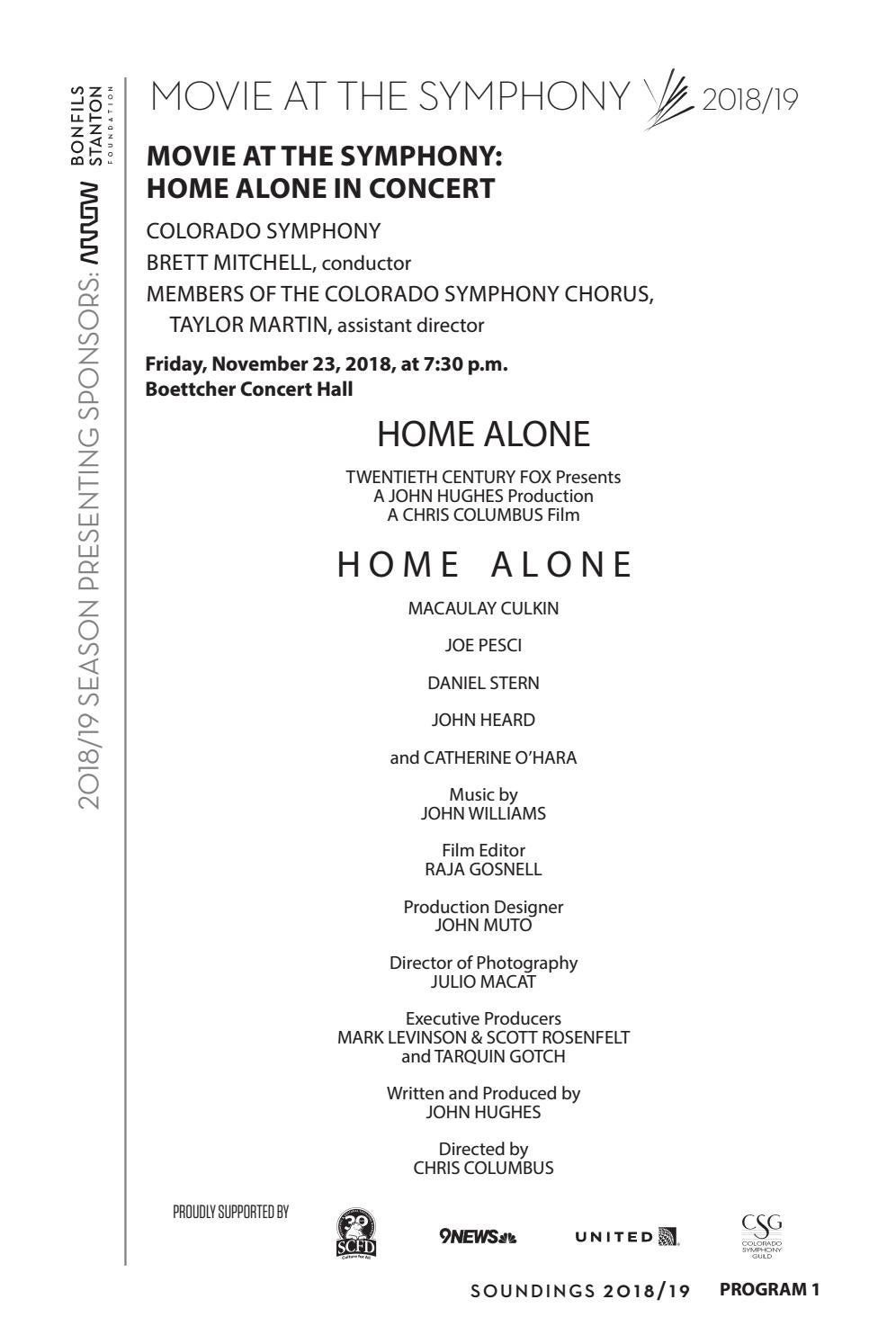 Program - Home Alone - Tom Petty - Drums of the World by Colorado Symphony  - issuu aeba6697cf33