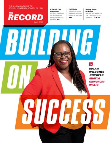The Record, Fall 2018 by Boston University School of Law - issuu