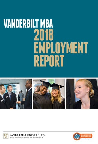 2018 MBA Employment Report by Vanderbilt Owen Graduate