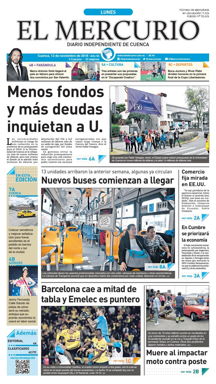 hemeroteca-12-11-2018 by Diario El Mercurio Cuenca - issuu 206c26a6f75