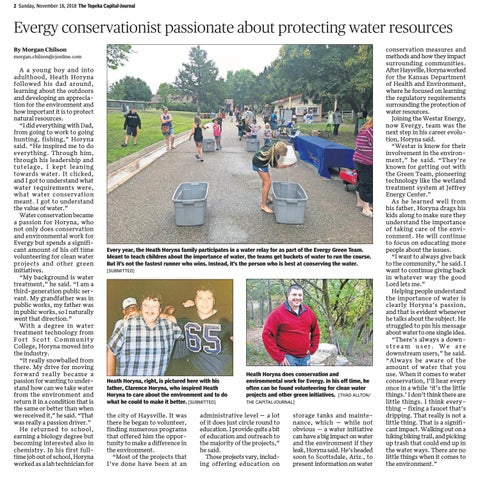 Page 2 of Evergy conservationist passionate about protecting water resources