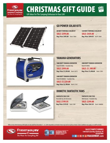 Fraserway Rv Kamloops >> 2018 Fraserway Rv Kamloops Gift Guide By Adventurer Group