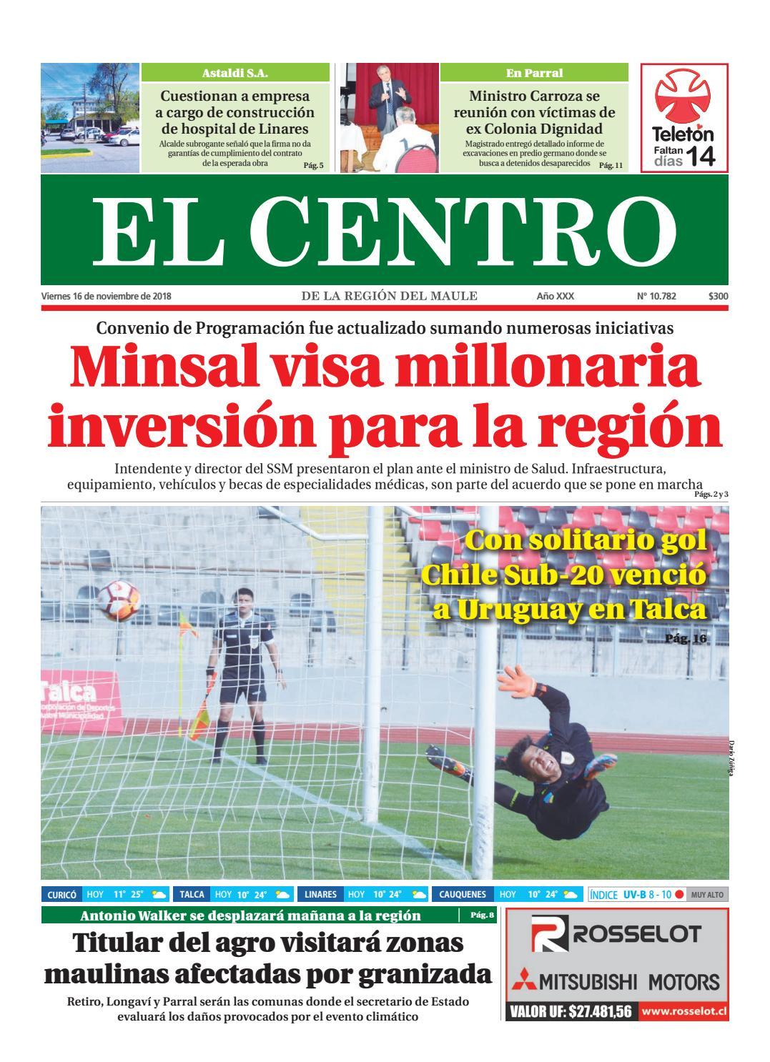 Diario 16 11 2018 by Diario El Centro S.A issuu