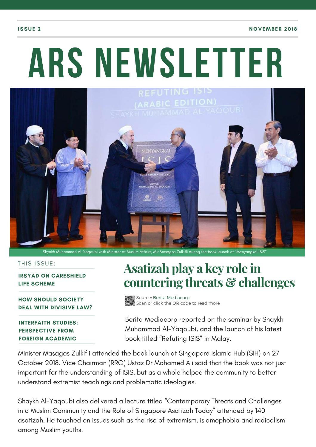 ARS Newsletter Issue 2 | November 2018 by ARS Office - issuu
