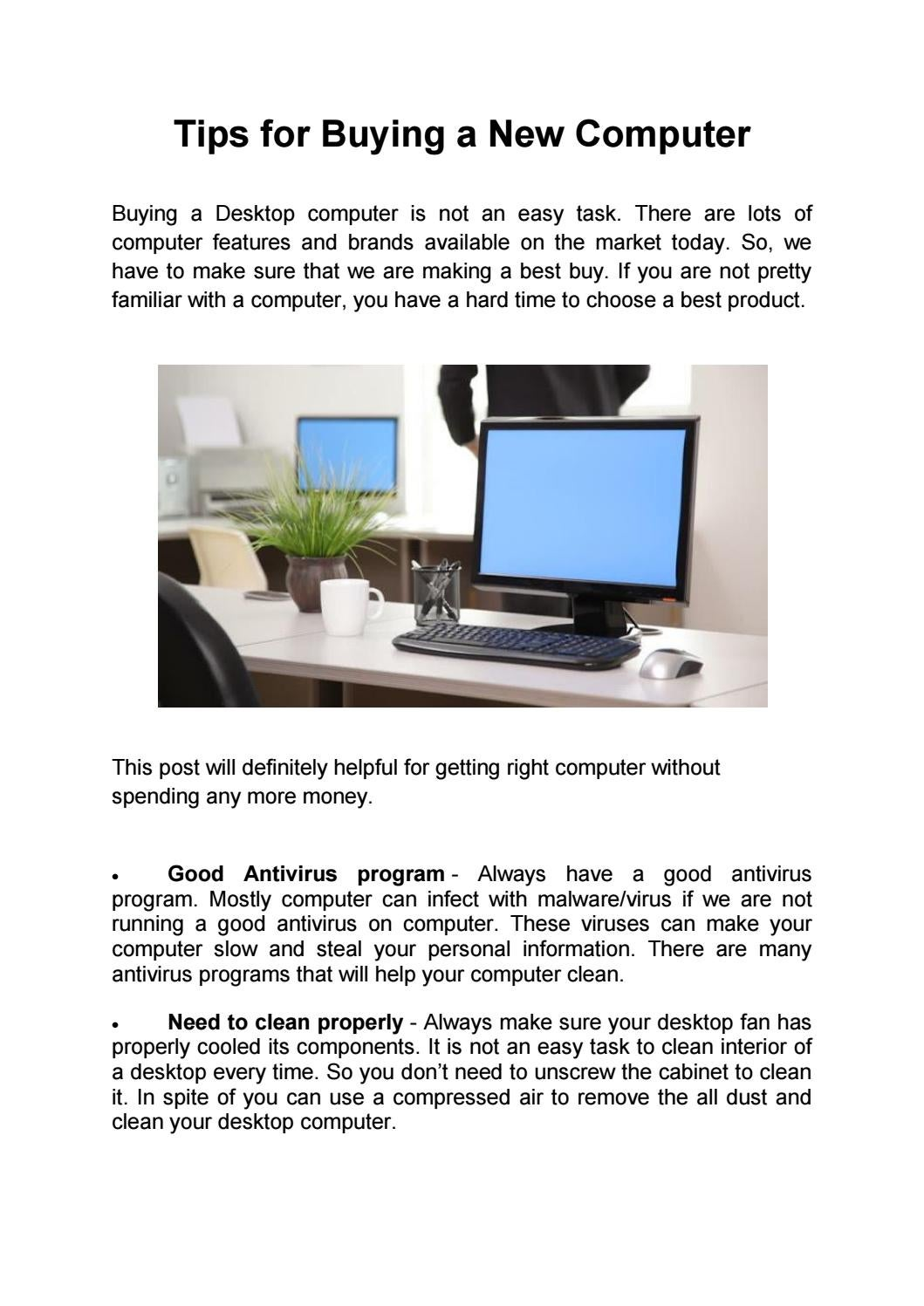 Tips For Buying A New Computer By Geeks On Repair Issuu