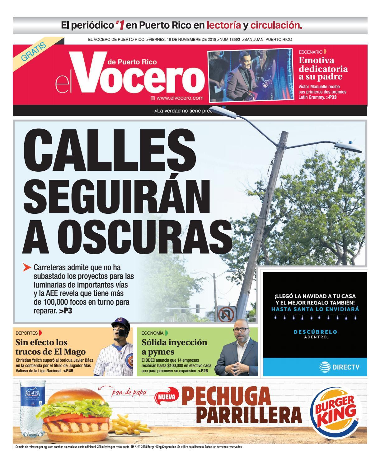 Edición: 16 de noviembre de 2018 by El Vocero de Puerto Rico