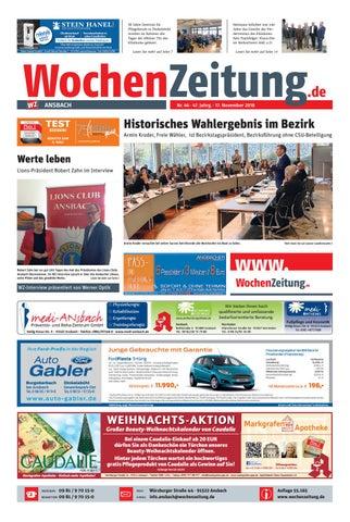 Wochenzeitung Ansbach Kw 46 18 By Wochenzeitung Sonntagszeitung Issuu
