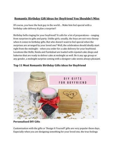 Gift ideas romantic most 20 Romantic