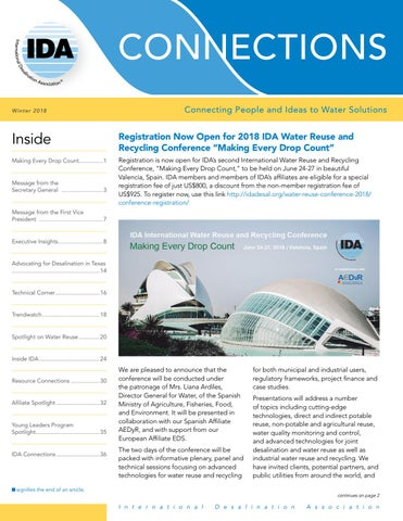 IDA Global Connections - Winter 2018 by International