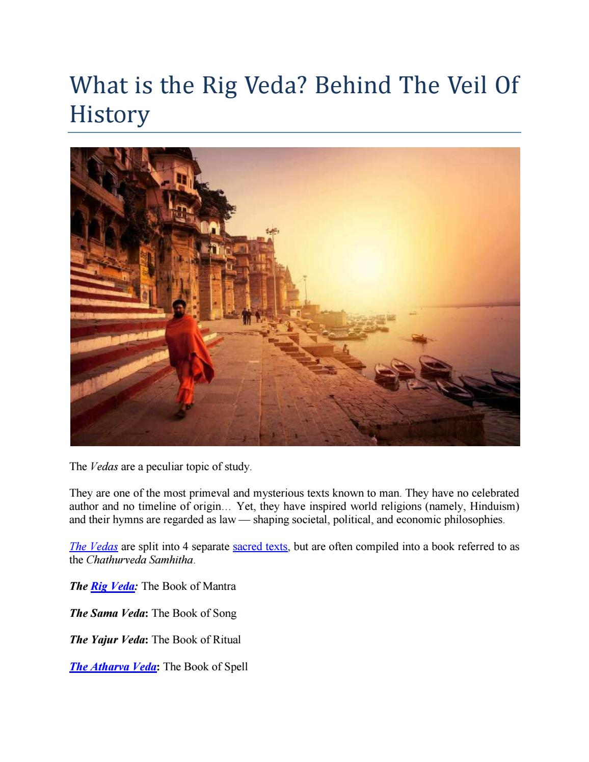 What is the Rig Veda? Behind The Veil Of History