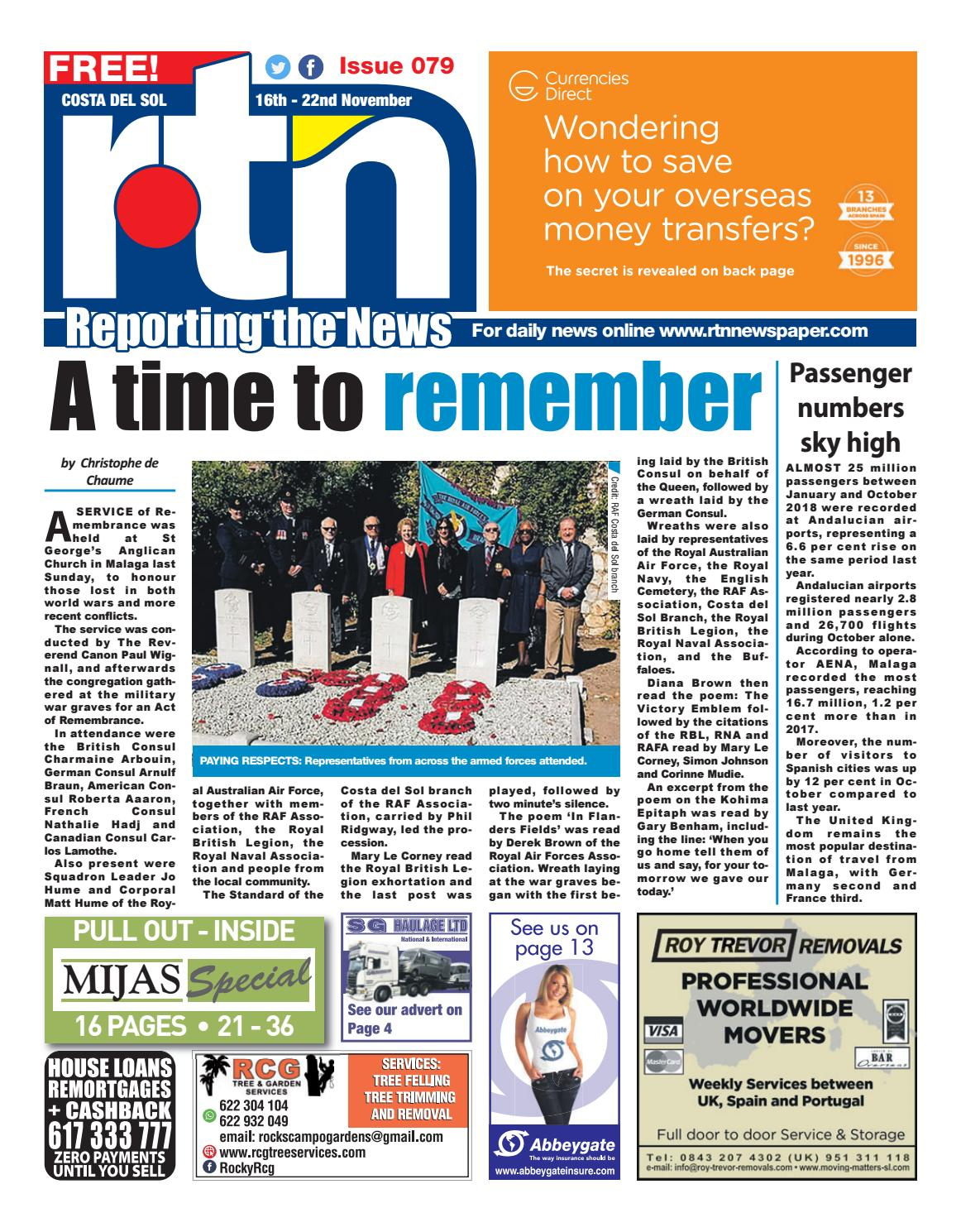 RTN Newspaper – Costa del Sol 16-22 November 2018 Issue 079 by Euro