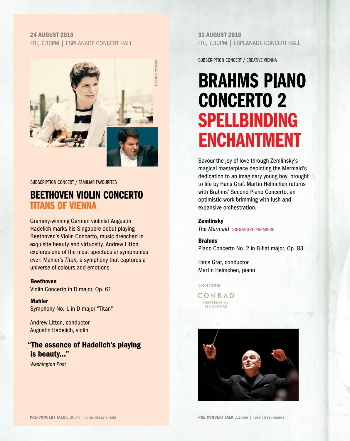 Singapore Symphony Orchestra 2018/19 Season Brochure by