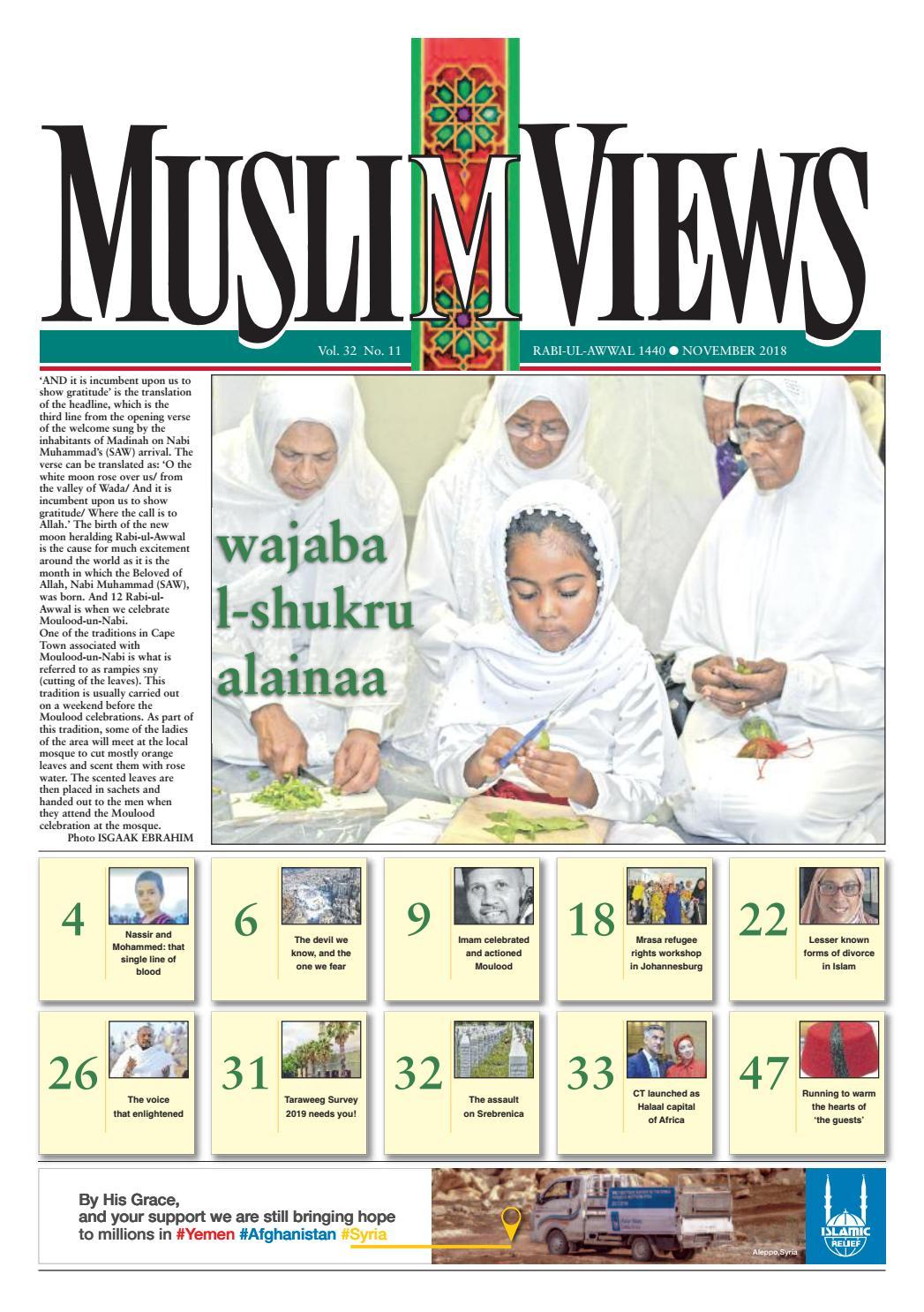 83b6c6ee6e4c5 Muslim Views, November 2018 by Muslim Views - issuu