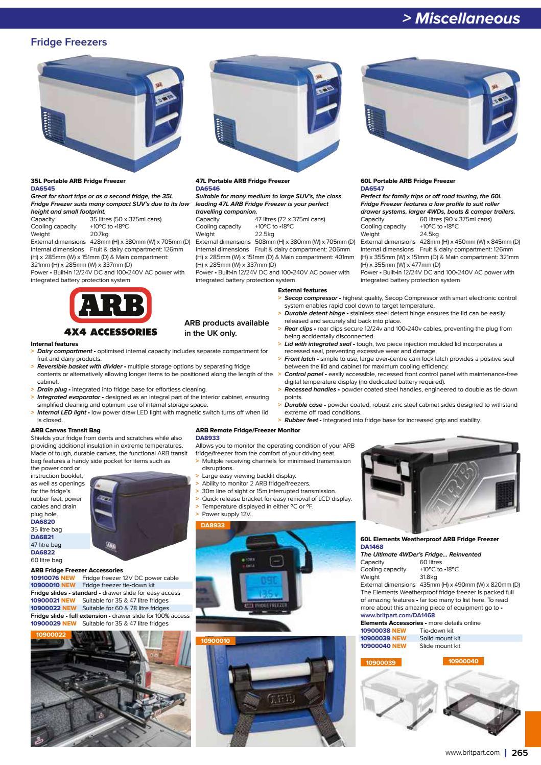 ARB 10910076 Fridge Freezer 12//24V DC Power Cord with Locking Plug