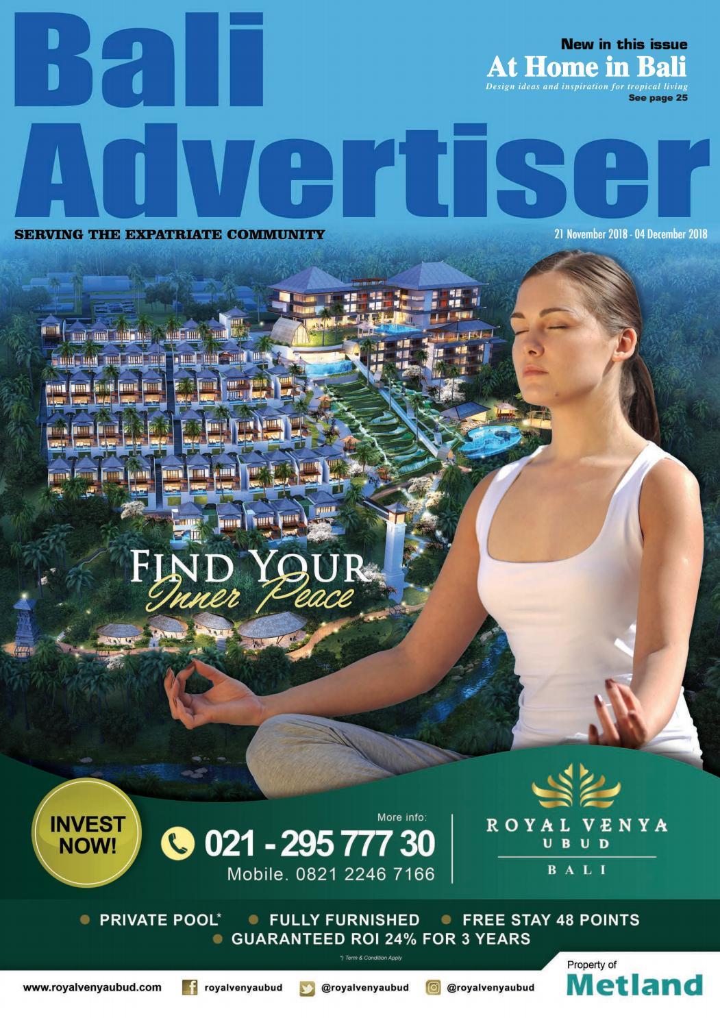 BA_21 November 2018 by Bali Advertiser - issuu