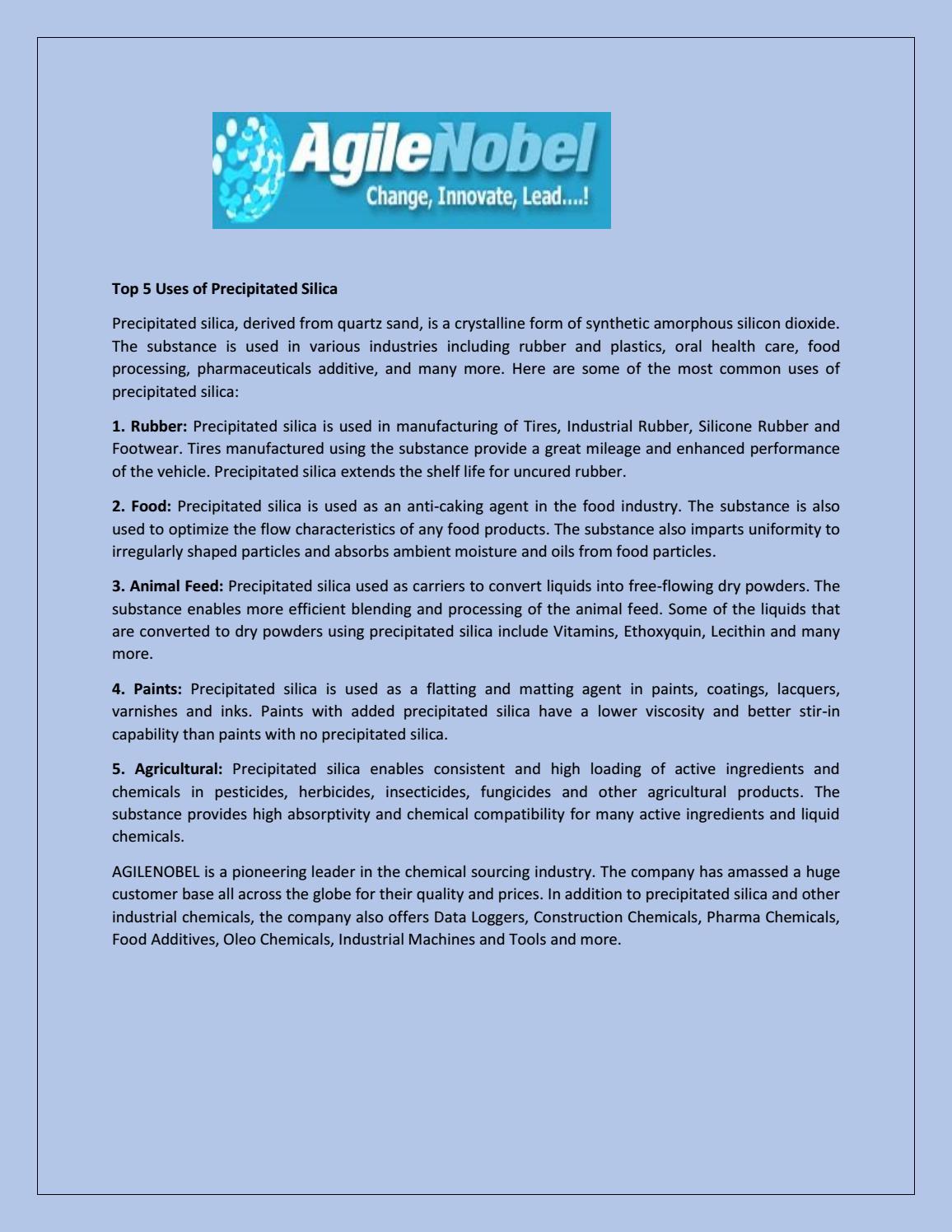 Top 5 Uses of Precipitated Silica by junaidhasan84 - issuu