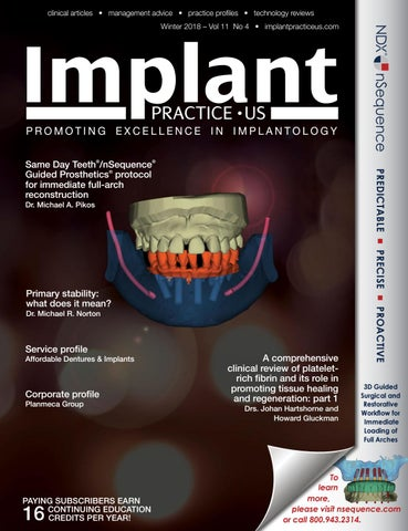 Implant Practice US Winter 2018 Vol 11 No 4 by MedMark, LLC