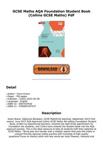 Gcse Maths Aqa Foundation Student Book Collins Gcse Maths Pdf By Nada9928 Issuu