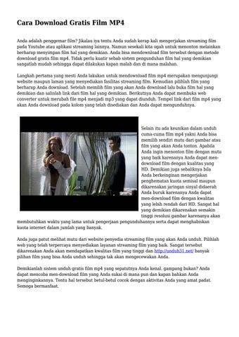 Cara Download Gratis Film Mp4 By Instateknopop Issuu