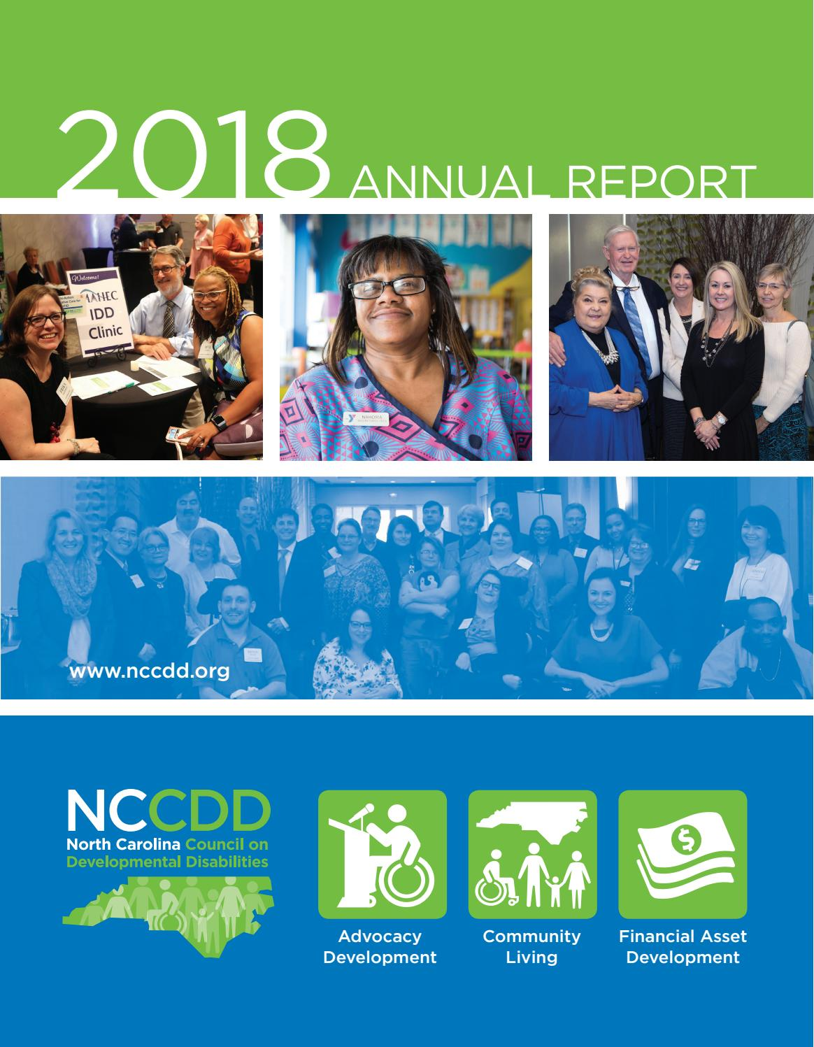 2017-2018 NCCDD Annual Report by North Carolina Council on