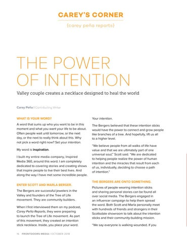 Page 16 of Carey's Corner: The Power of Intention