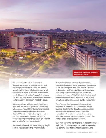 Page 29 of Arizona's Path to Becoming a Healthcare Mecca