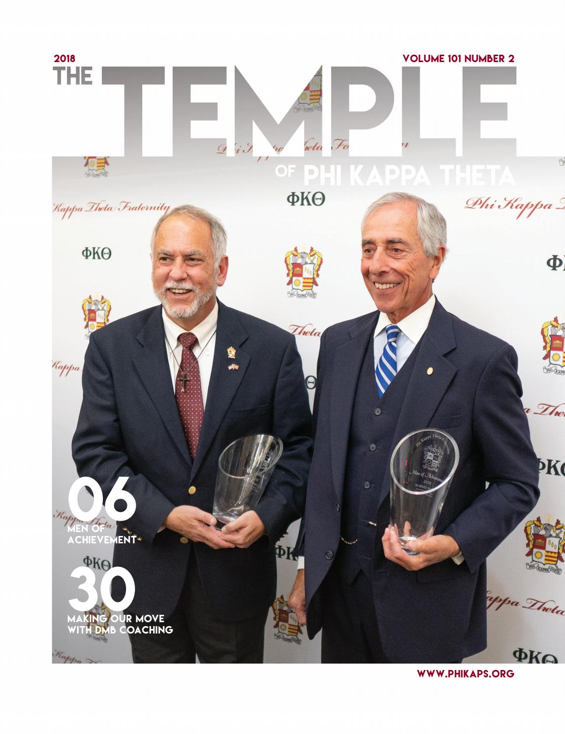 The Temple Journal of Phi Kappa Theta - Fall 2018 by Phi Kappa Theta