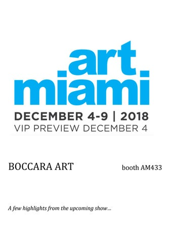 12f569d5 A few highlights from the upcoming show - BOCCARA ART at Art Miami 2018